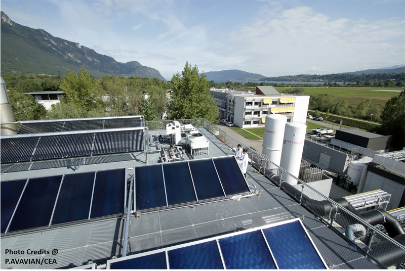 Experimental solar district heating plant for research activities